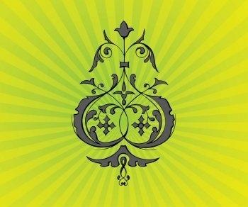Psychedelic Flower Ornament Vector, Vecor Ornament EPS Design