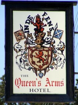 pub sign on wall