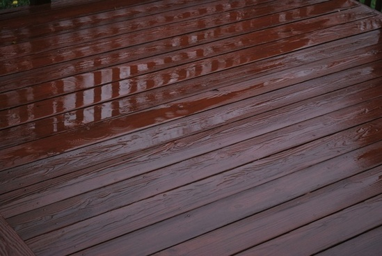 puddles on the deck