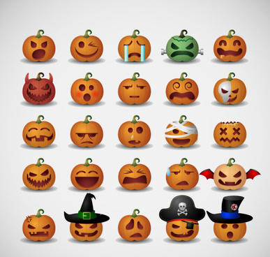 pumpkin head halloween icons