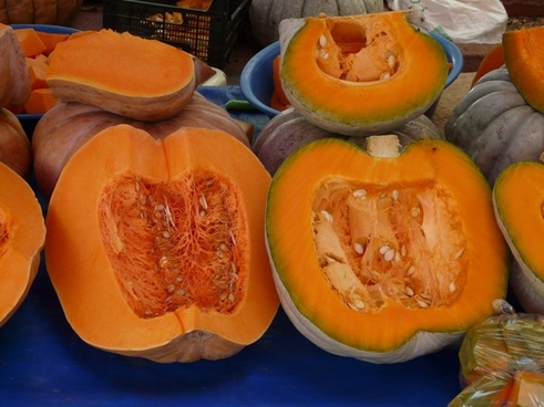 pumpkin sliced pulp