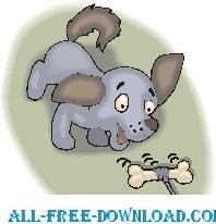 Puppy Chasing Bone