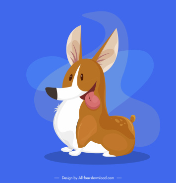 puppy dog icon cute colored cartoon sketch