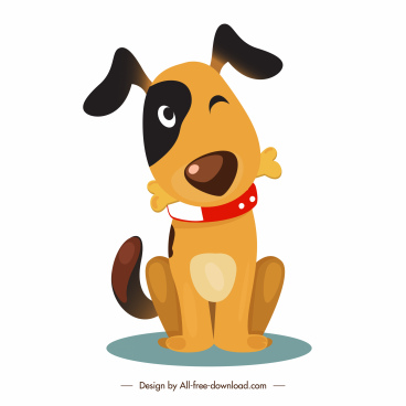 puppy icon cute cartoon character sketch