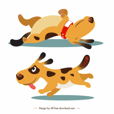 puppy icon playful gesture cute cartoon sketch