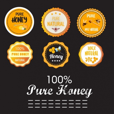pure honey stamps collection serrated round design