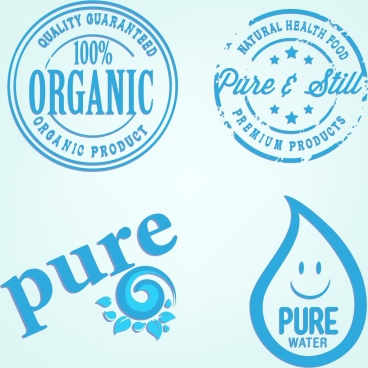 pure product logotypes blue design circle drop decor