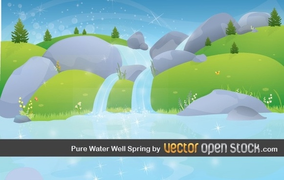 Pure Water Well Spring