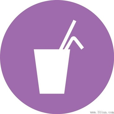 purple background beverage icons vector