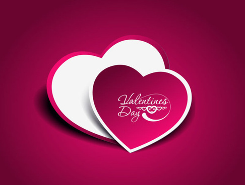 purple backgrounds and hearts vector
