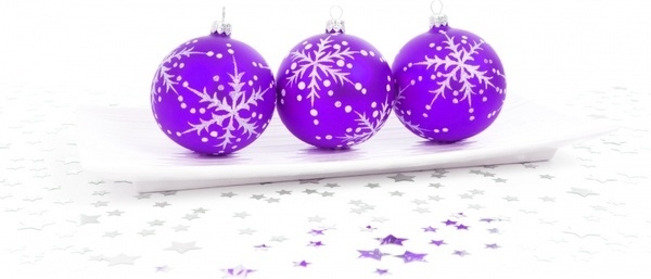 purple bauble decoration