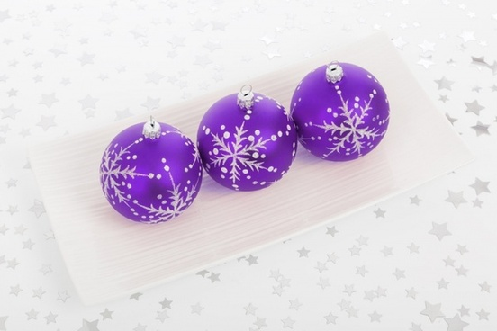 purple bauble decorations