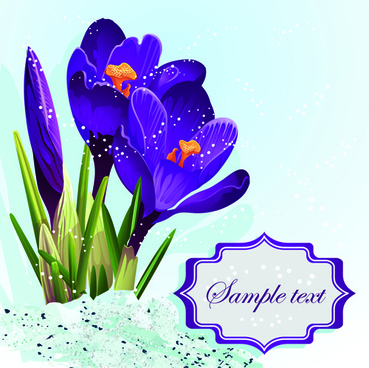 purple beautiful flower vector background