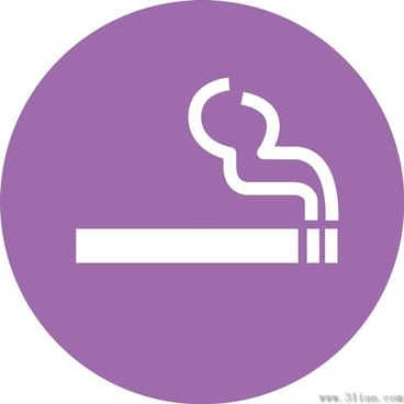 purple cigarette icons vector