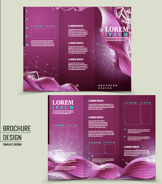 purple corporate brochure cover vectors
