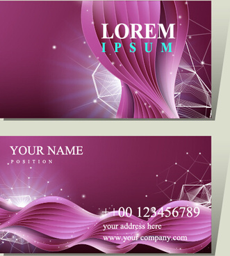 purple corporate card vector