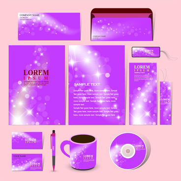 purple corporate identity template