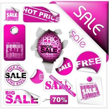purple discount sales vector