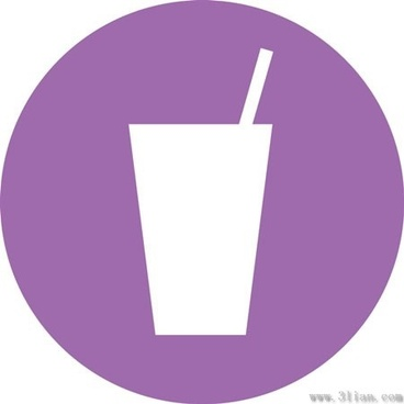 purple drink beverage icons vector