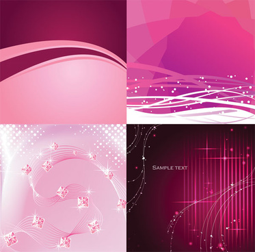 purple dynamic lines background vector