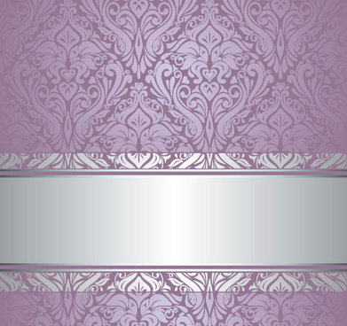 purple floral ornament pattern backgrounds vector