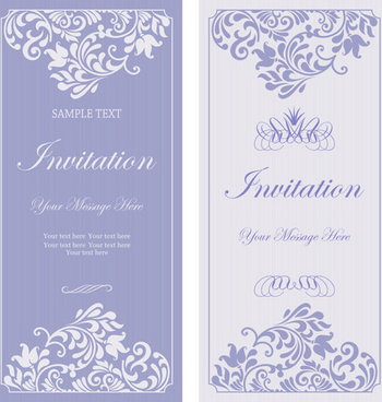 Floral ornaments for wedding vector free vector download 101635 purple floral ornaments cards vector stopboris Gallery