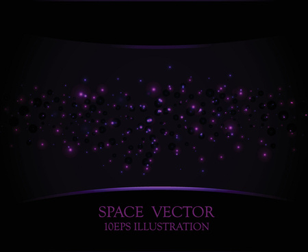 purple light dot vector space background