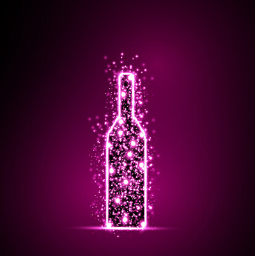 purple light dot wine vector background