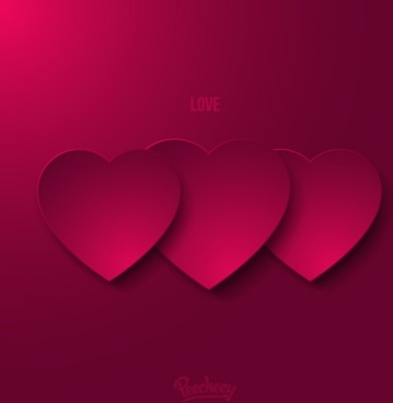 purple love greeting card