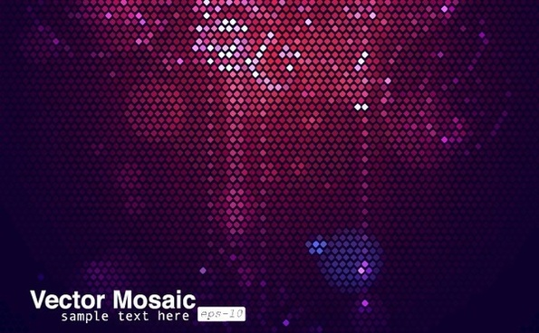 abstract mosaic background dark light effect decoration