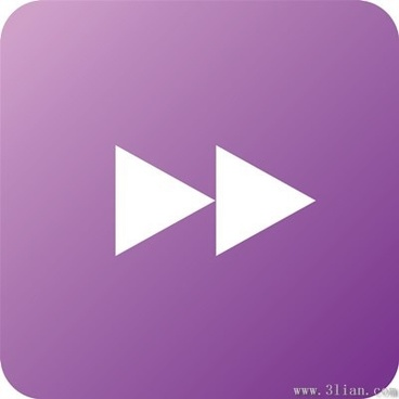 purple player fast forward icon vector