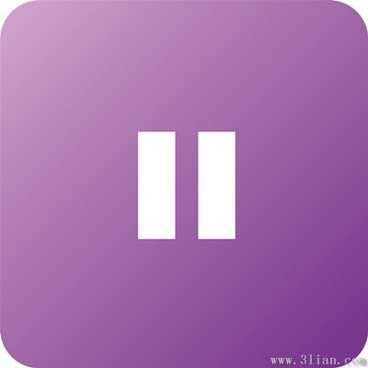 purple player pause icon vector