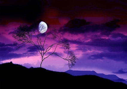 purple sky picture