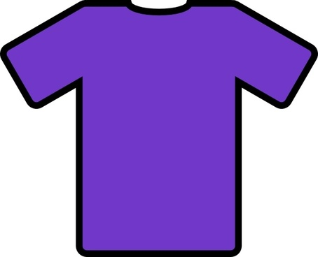 Purple T Shirt clip art