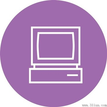 purple tv icon vector