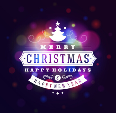 purple with blue christmas and new year holiday background