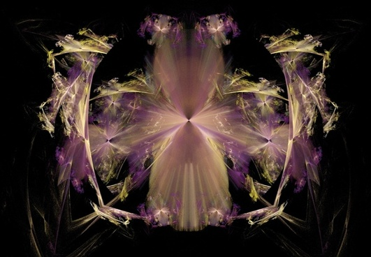 purple yellow and pink fractal