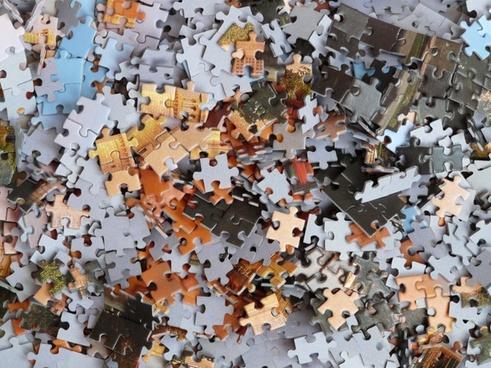 puzzle cardboard box