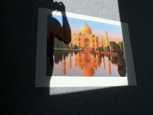 puzzle taj mahal photograph