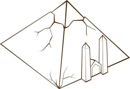 Pyramid clip art