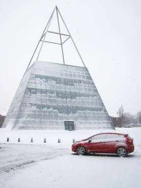 pyramid in winter