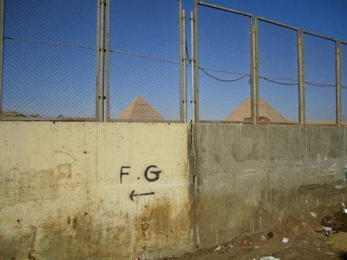 pyramids fence
