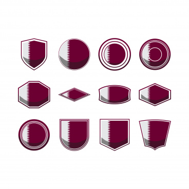 qatar icon set