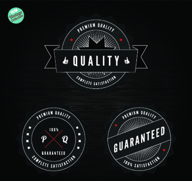 quality and guaranteed black label design elements