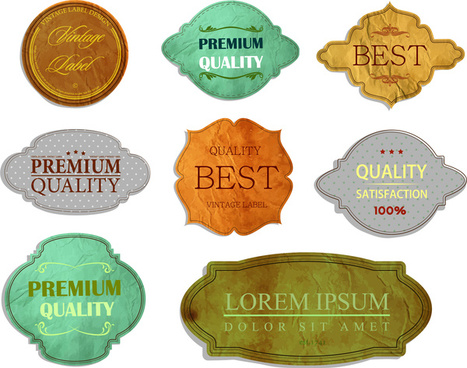 quality certification vintage labels collection