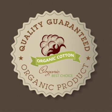 quality guarantee stamp classical serrated design