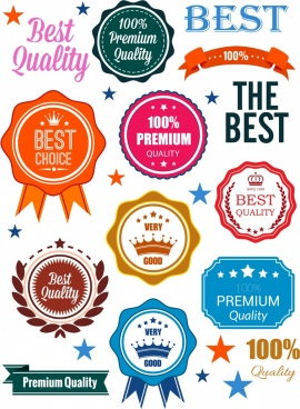 quality identity sets colorful shaped textures design