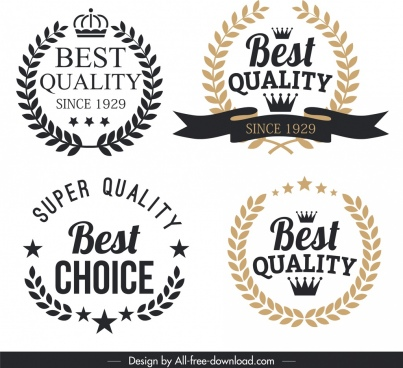 quality label templates vintage elegant wreath decor