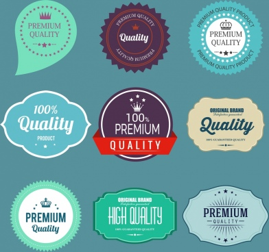 quality labels collection classical decor rounded serrated border