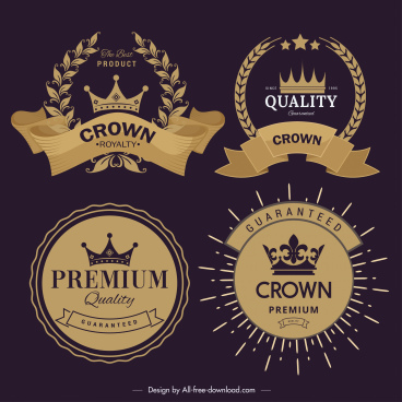quality logo templates classical elegant dark golden design